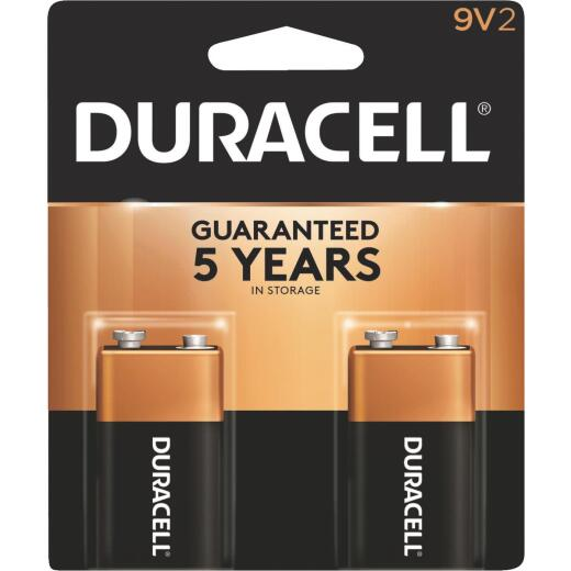 Duracell CopperTop 9V Alkaline Battery (2-Pack)