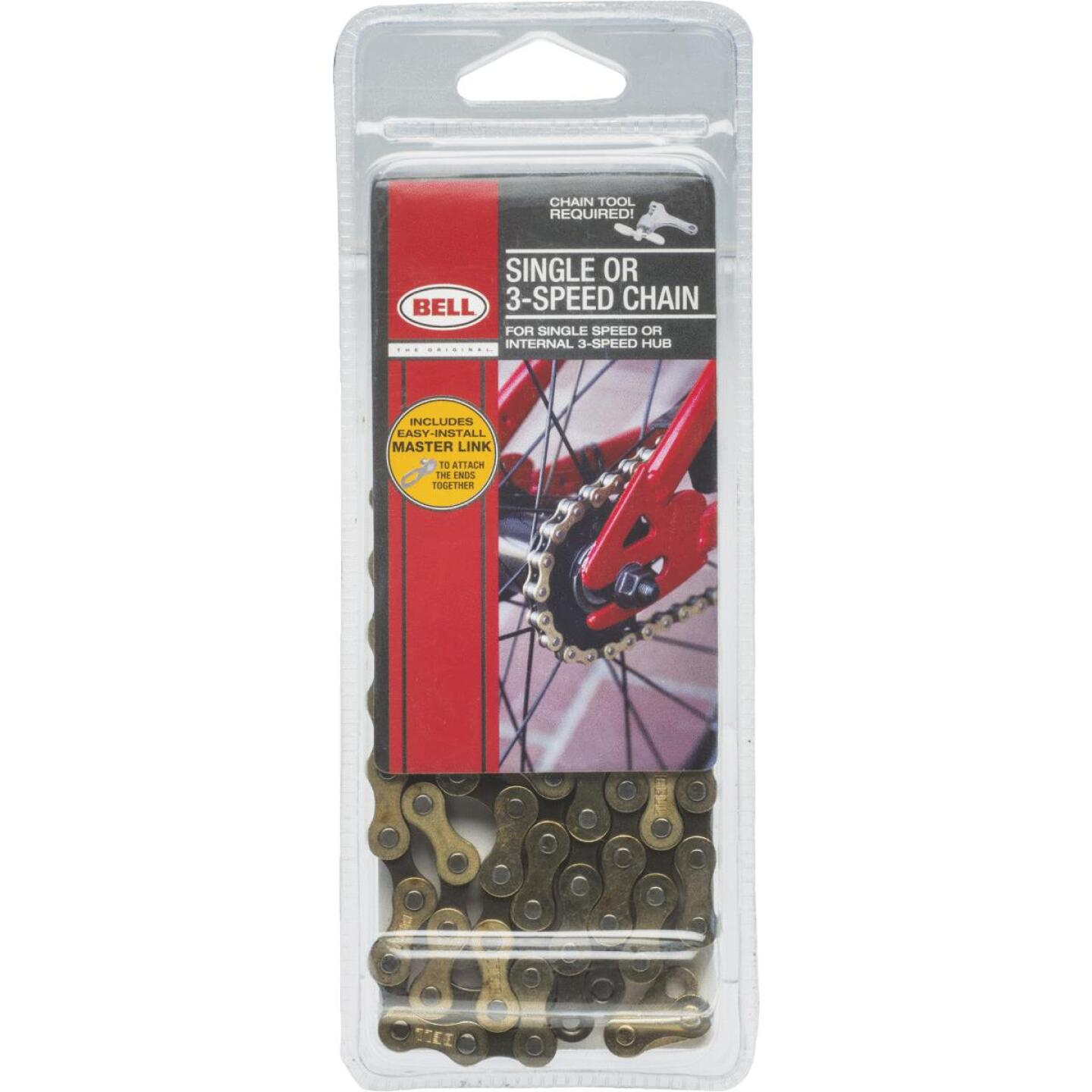 Bell Sports Single & 3-Speed Bicycle Chain Image 1