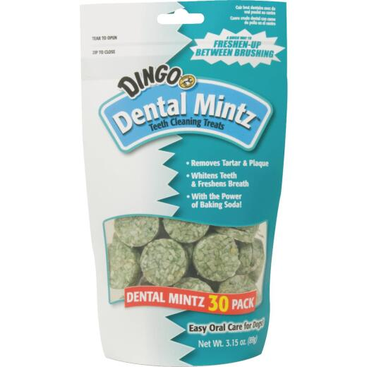 Dingo Dental Mintz Mint Flavor Dental Dog Treat (30-Pack)