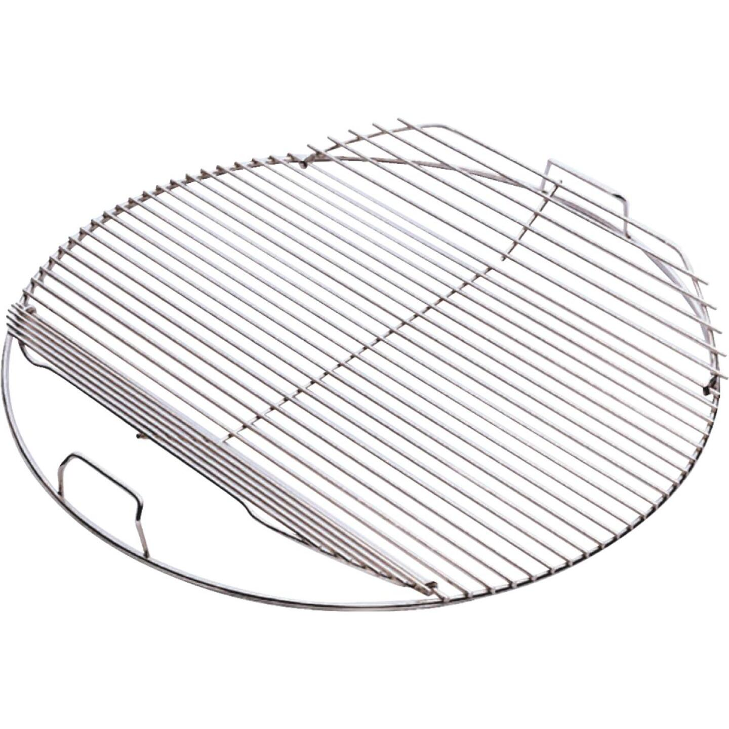 Weber 18.5 In. Dia. Plated-Steel Hinged Kettle Grill Grate Image 1