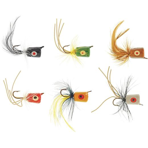 SouthBend 6-Piece Assorted Poppers Fishing Lure Kit