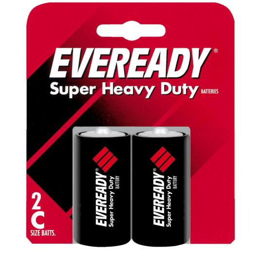 Eveready Super Heavy Duty C Carbon Zinc Battery (2-Pack)