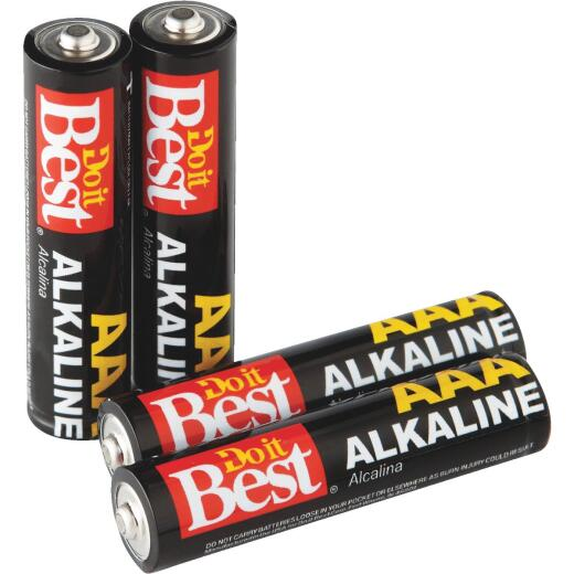 Do it Best AAA Alkaline Battery (4-Pack)