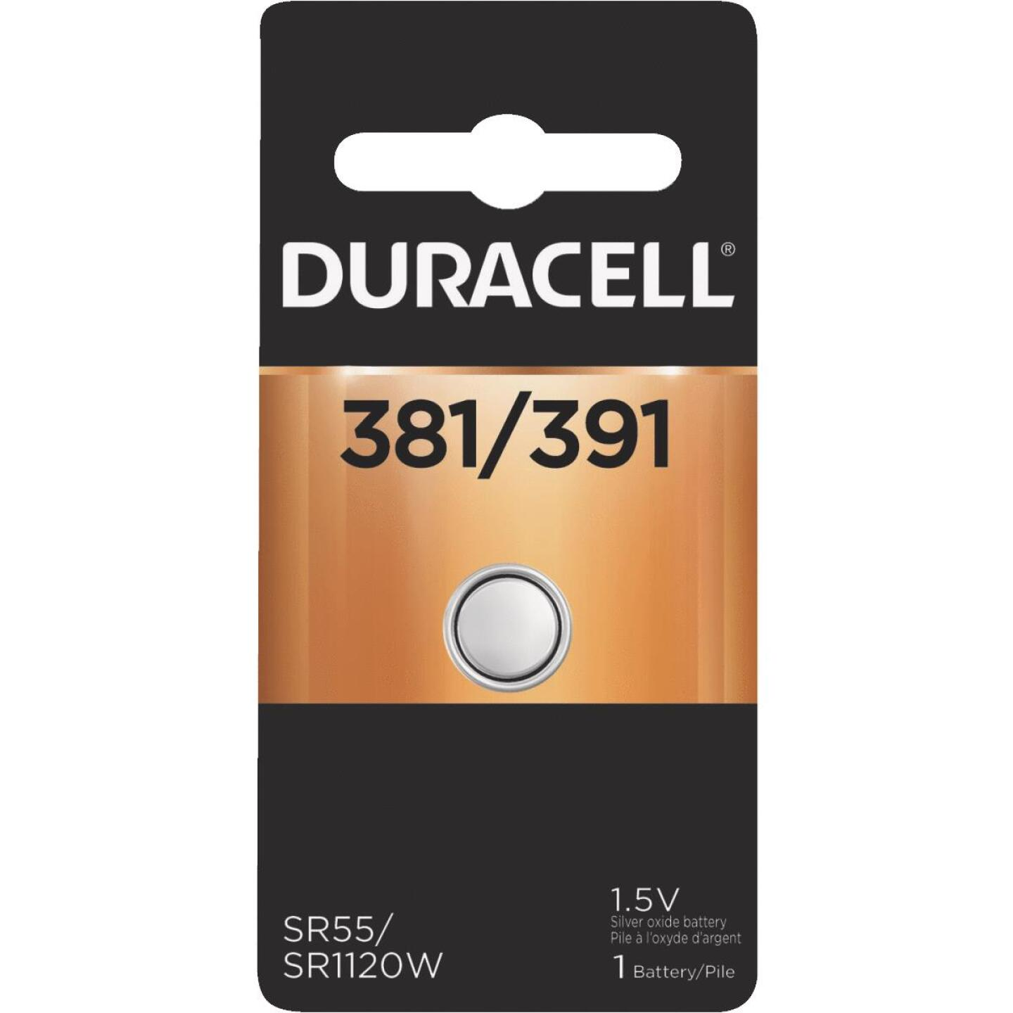 Duracell 381/391 Silver Oxide Button Cell Battery Image 1
