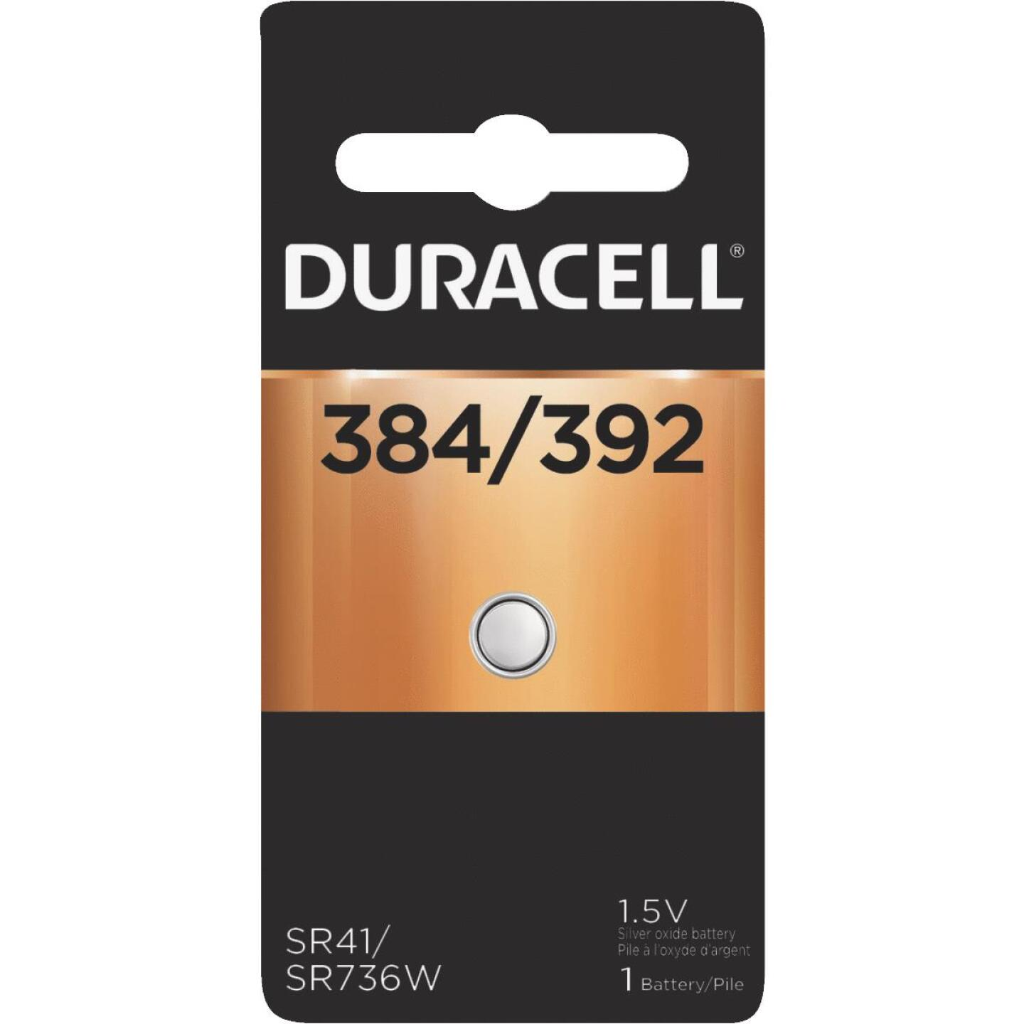 Duracell 384/392 Silver Oxide Button Cell Battery Image 1