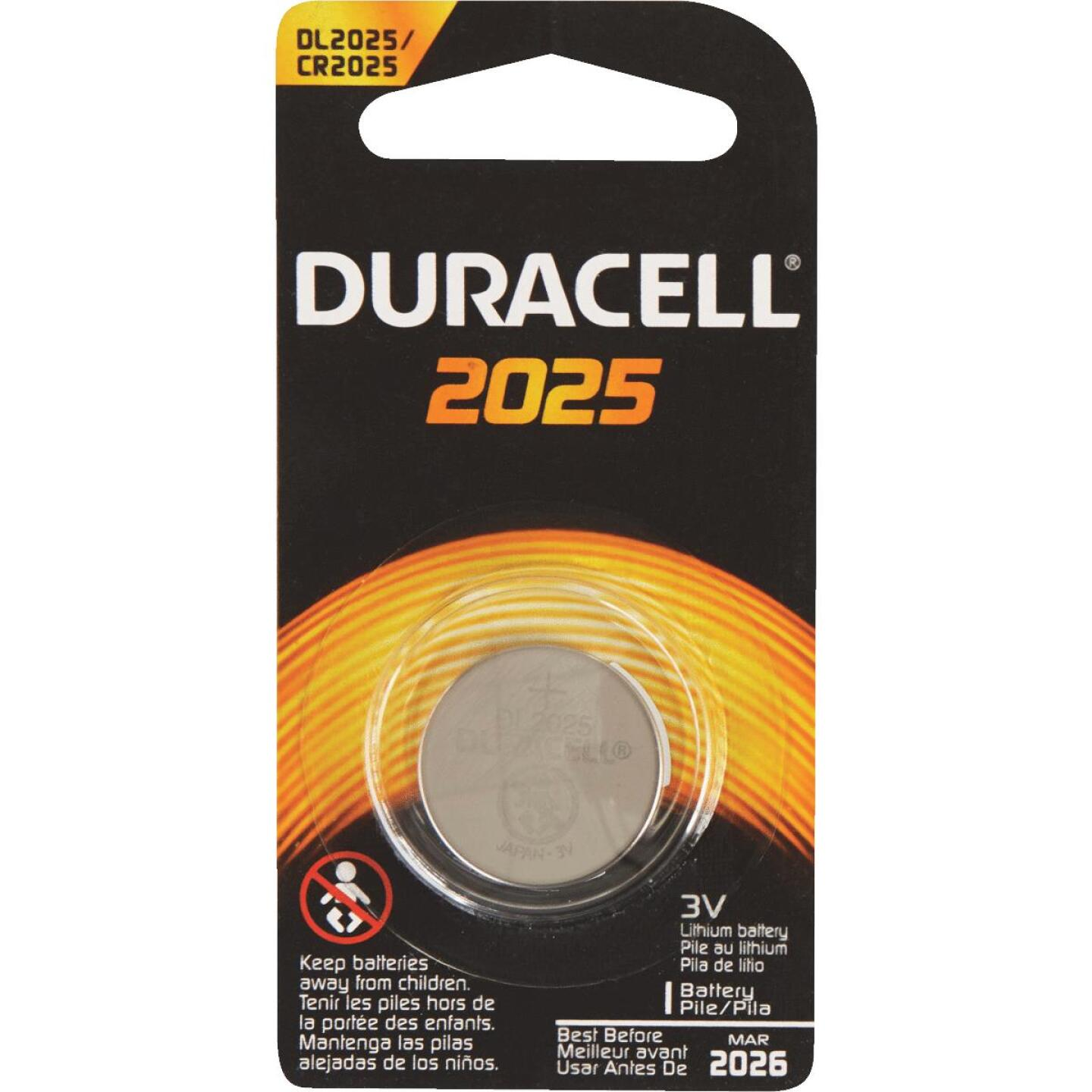 Duracell 2025 Lithium Coin Cell Battery Image 2