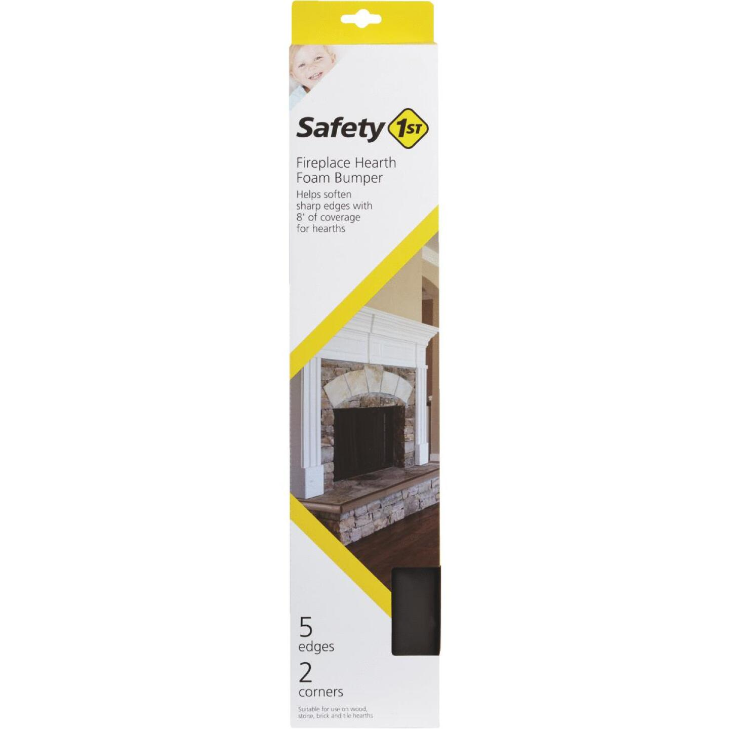 Safety 1st Adhesive Foam Brown Fireplace Guard Foam Bumper Image 2