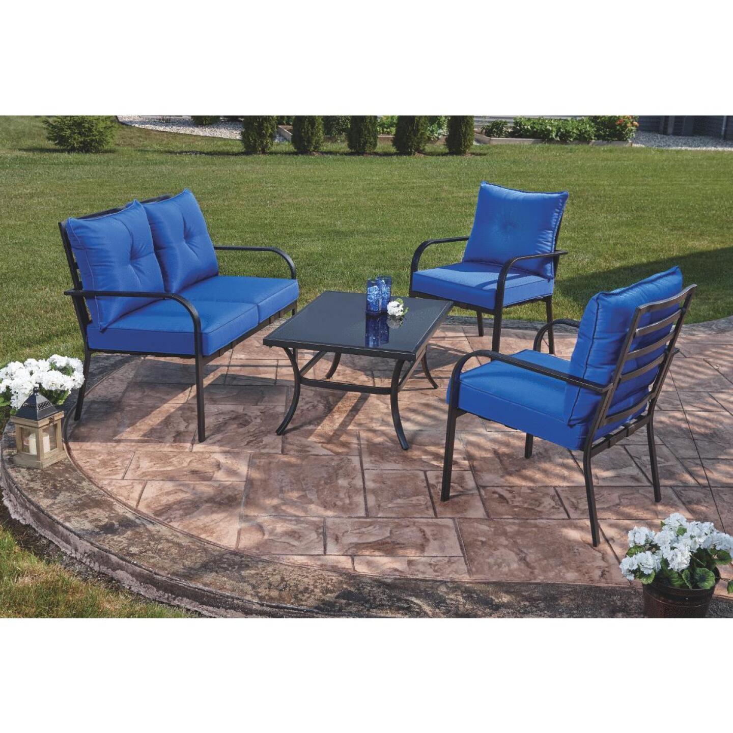 Outdoor Expressions Azure 4-Piece Chat Set Image 3