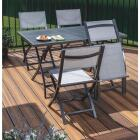 Outdoor Expressions Ash 5-Piece Aluminum Folding Dining Set Image 8