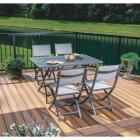 Outdoor Expressions Ash 5-Piece Aluminum Folding Dining Set Image 9
