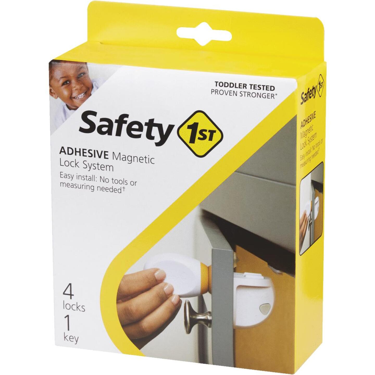 Safety 1st Plastic Adhesive Magnetic Lock System (4-Lock Set) Image 3