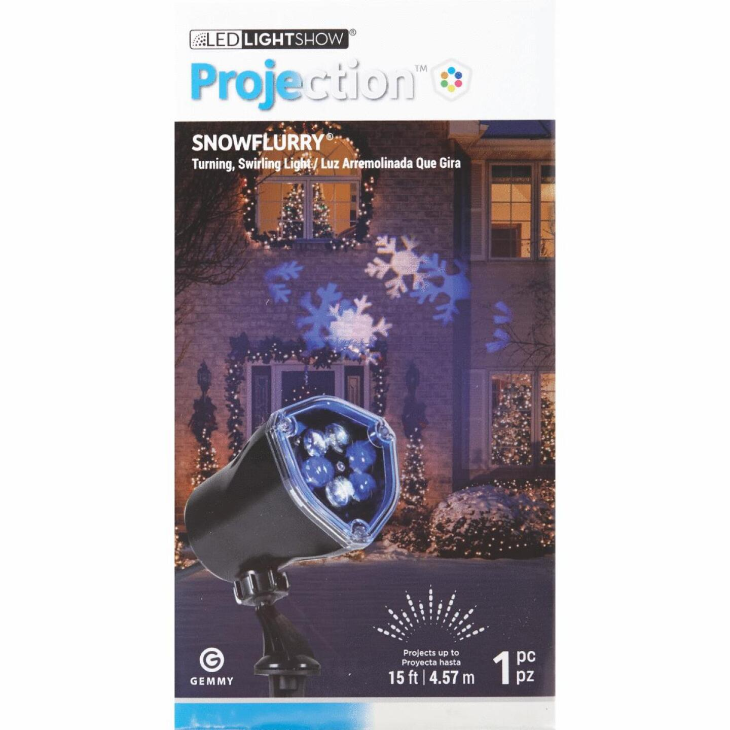 Gemmy LED 5W SnowFlurry Laser Light Projector Image 2