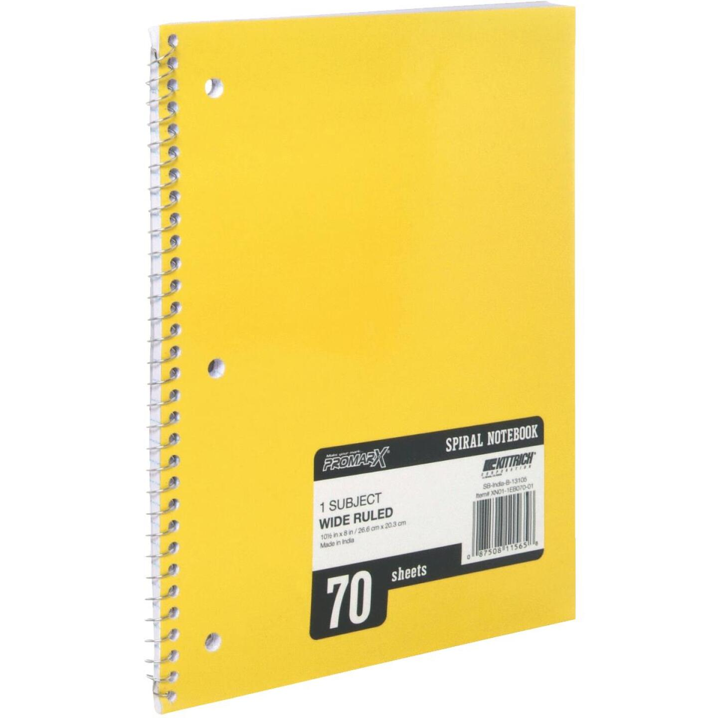 ProMark 8-1/4 In. W. x 10-1/2 In. H. 70-Sheet Side-Spiral Notebook Image 1