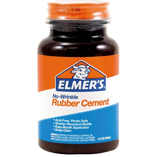 Elmer's 4 Oz. Rubber Cement Adhesive