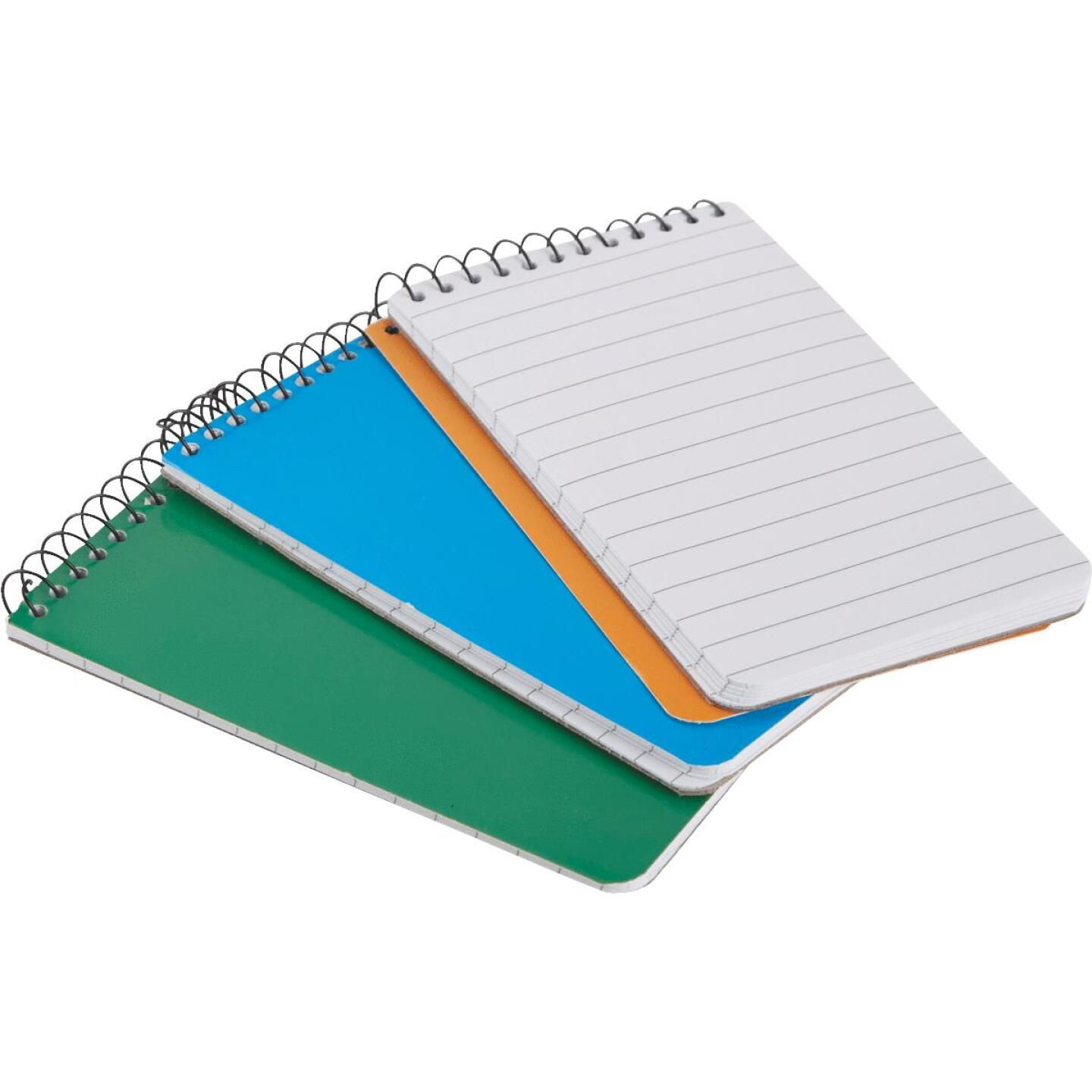 Smart Savers 3 In. x 5 In. White 50-Sheet Top Spiral Bound Memo Pad (3-Pack) Image 4