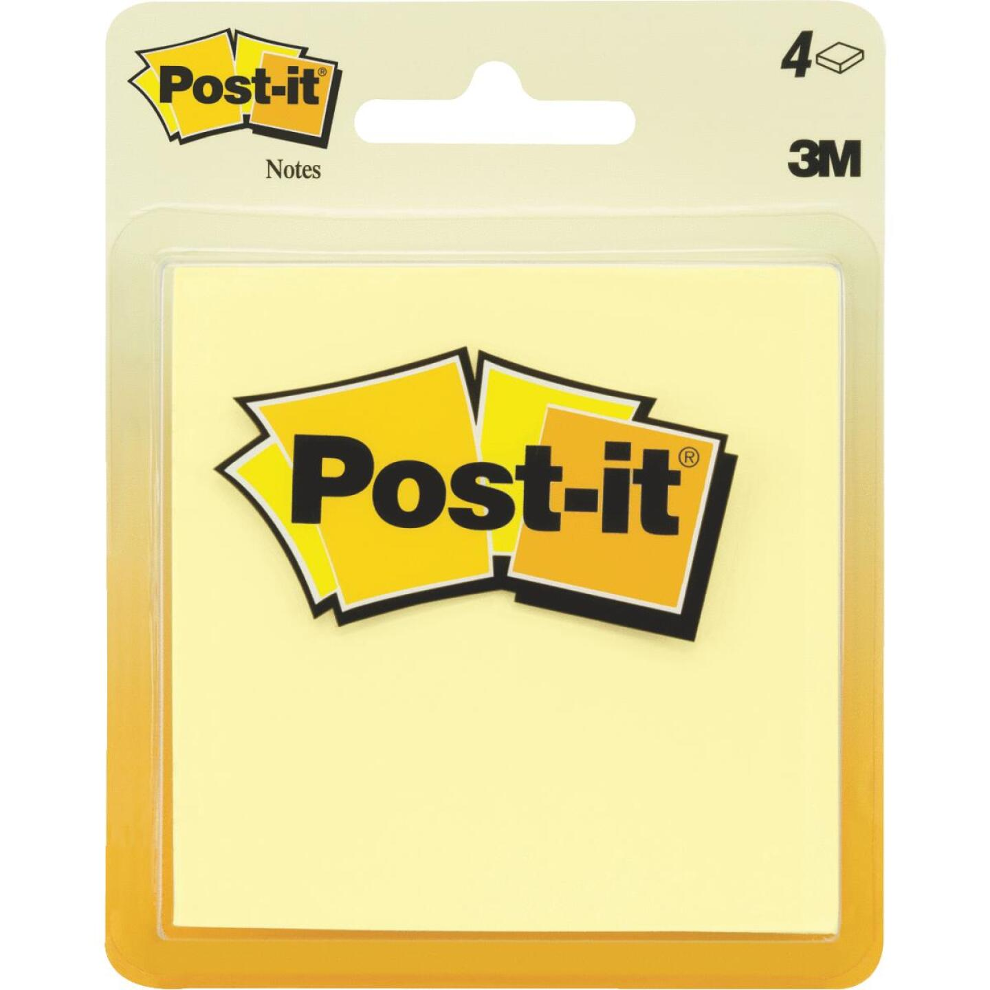 Post-It 2-7/8 In. X 2-7/8 In. Yellow Self-Stick Note Pad (4-Pack) Image 1